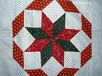 Antique Rolling Star Quilt Top