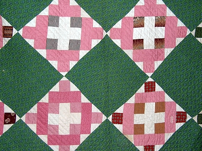 Antique 1900s Chimney Sweep Quilt - Check out the great backing fabric!