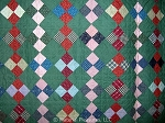 Antique Quilt c1890s On Point 4 Patch - Great Scale and Color Arrangement