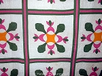 c1900 Antique Applique Quilt - South Carolina - Oak Leaf & Reel Variation