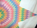 Vintage Quilt c1940s Lone Star or Star of Bethlehem in Pastel Colors
