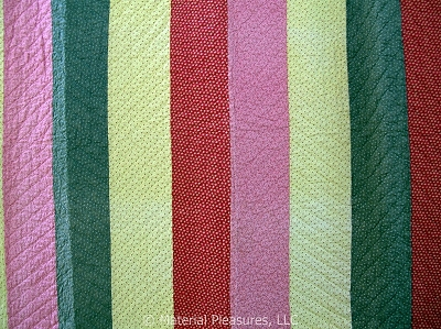 Antique Quilt - c1910 Strippy Bars from Illinois - possibly Mennonite