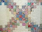 Vintage Quilt 1930s Jewel Box - Triple Irish Chain - Graphic, Planned, Organized