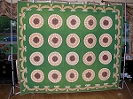 Antique Pre Civil War Sunburst Quilt dated 1858 and Initials in the Quilting!