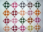 Antique 1880s Goose Tracks Quilt - Pieced and Appliqued - from Western PA