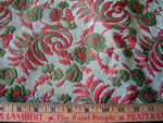 Vintage Jacquard Home Decorative Fabric Floral and Leaf