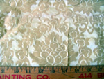 Vintage Jacquard Home Decorative Fabric Gold Floral Medallions