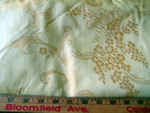 Vintage Jacquard Home Decorative Fabric Golden Flowers