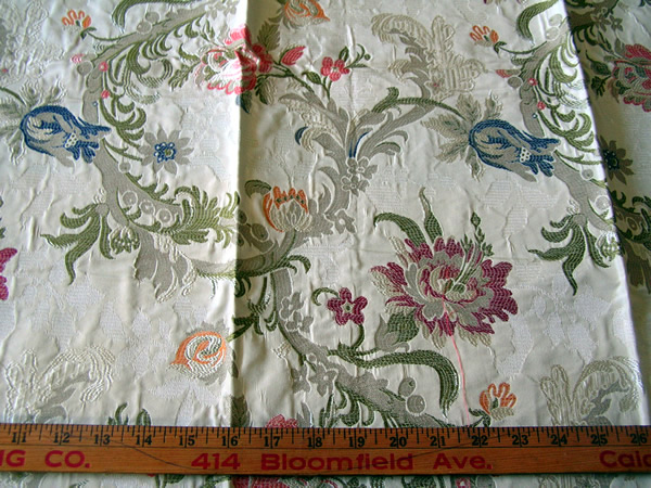 Vintage Home Decorative Fabric Jacobean Floral