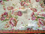 Vintage Home Decorative Fabric Victorian Floral