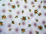 Vintage Quilt Fabric with Yellow Roses