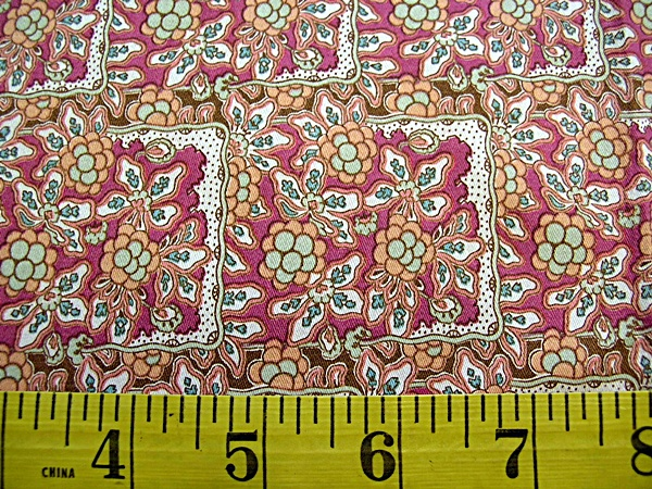 Antique French Floral Sateen Fabric