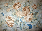 Early 19th Century Cotton Floral Fabric with Butterflies