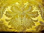 Antique Gold Silk Damask Fabric