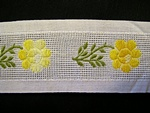Vintage Ribbon with Yellow Embroidered Flowers