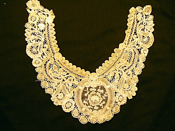 Antique Tape Lace and Hand Embroidered Collar