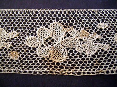 Vintage Bobbin Lace with Flowers
