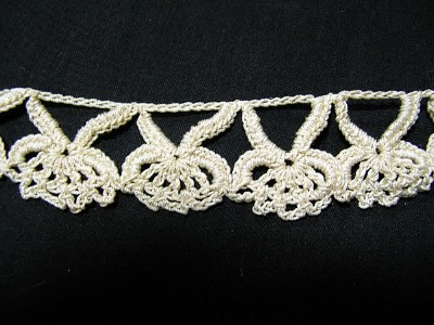 Vintage Handmade Crocheted Trim with Complicated Design