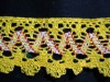 Retro Yellow Crochet Trim with Zig Zag Design