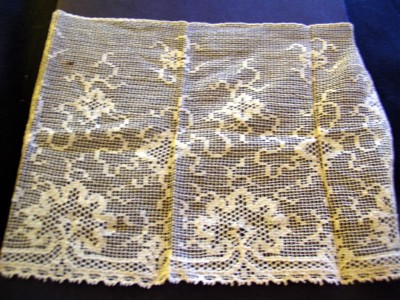 Vintage Filet Lace Piece with Trees