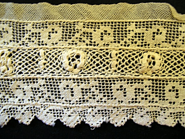 Vintage Lace Trim with Filet and Irish Crochet