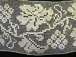 Vintage Filet Insertion Lace with Leaves