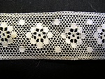 Vintage Valenciennes Insertion Lace with Snowflakes