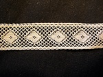 Vintage Early Machine Valenciennes Insertion Lace with Diamonds