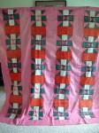 Vintage Quilt with Pink and Green with Humility Block