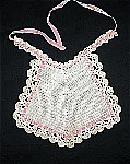 Vintage Crocheted and Knitted Baby Bib