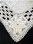 Vintage Linen Table Cloth with Needle Lace Edging