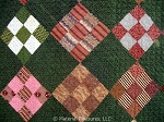 Antique Quilt c1870s On Point 9 Patch with Bars Back from Pennsylvania