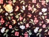 Vintage Quilt Fabric Black with Butterflies