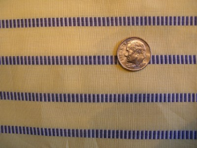 Vintage Rayon Fabric Yellow with Woven Stripe