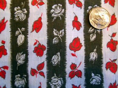 Vintage Quilt Fabric Flower Stripe by Marignan
