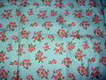 Vintage Quilt Fabric with Fruit Pink